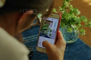 スマホで撮影する女性の写真・画像素材[3367801]