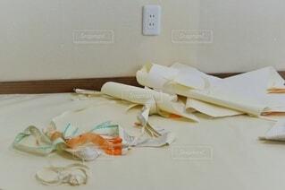 新築工事 壁紙の施工の写真・画像素材[3797875]