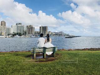 ハワイでウェディングの写真・画像素材[1007287]