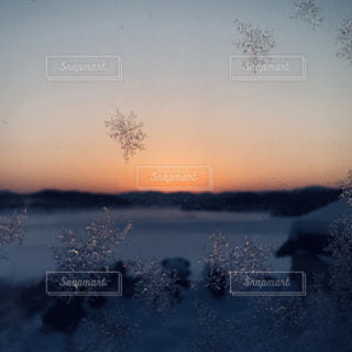 雪の結晶②の写真・画像素材[1009381]