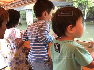 松江城の堀川遊覧にての写真・画像素材[1067293]
