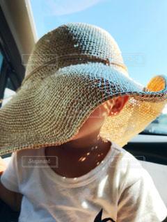 帽子をかぶっている人の写真・画像素材[1763632]