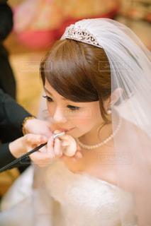 彼女の歯を磨く女性の写真・画像素材[1133033]