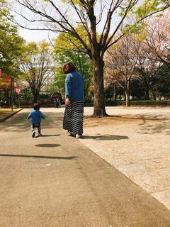 道路の側をスケート ボードに乗って少年の写真・画像素材[1135633]