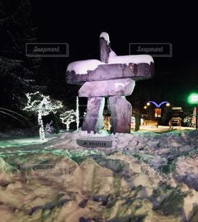 冬のウィスラーの写真・画像素材[1007400]