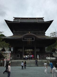 阿蘇神社の地震前の写真・画像素材[1011766]