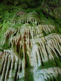 鍾乳洞の滝の写真・画像素材[1009116]