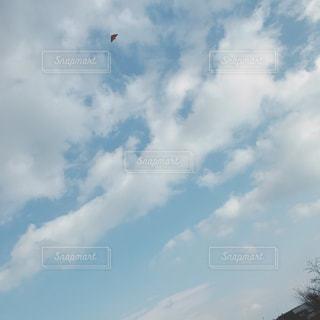 曇りの日に凧の飛行人 - No.1009296