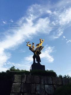 空気中のジャンプ男 - No.1010838