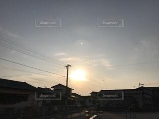 夕日の公園の写真・画像素材[1022231]