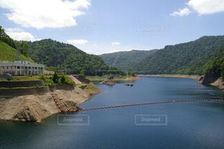 ダム湖の写真・画像素材[1010945]