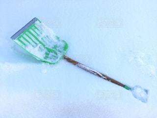 雪かきの写真・画像素材[1011782]