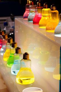 七色のソーダ水の写真・画像素材[1010090]
