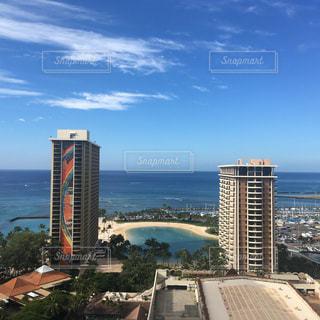 ハワイ ホテルからの景色の写真・画像素材[1010588]