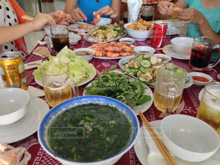 ベトナムの食事風景の写真・画像素材[1010759]