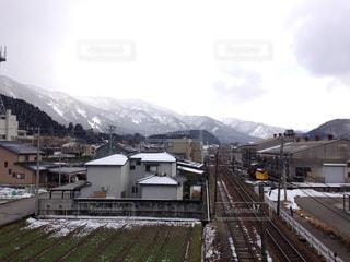 雪に覆われた鉄道の写真・画像素材[1011278]