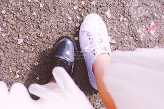 花びらと靴 - No.1011994
