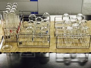 実験室の実験器具の写真・画像素材[1033496]