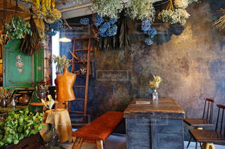 ドライフラワーのあるカフェ - No.1012780