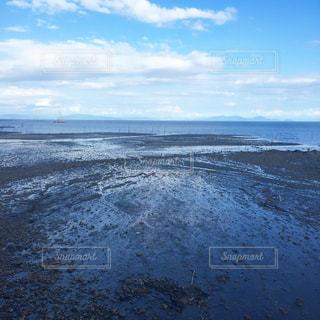 青い空、青い海、干拓!の写真・画像素材[1013220]