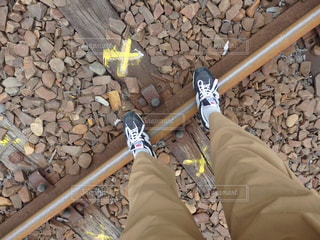 線路の上の写真・画像素材[1014428]