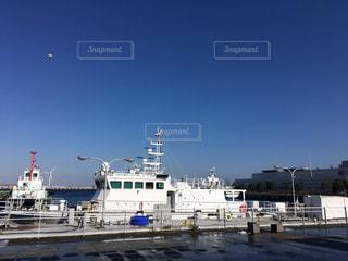 大型船が港にドッキングの写真・画像素材[1014153]