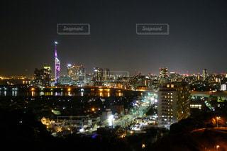 福岡タワー夜景の写真・画像素材[1013842]