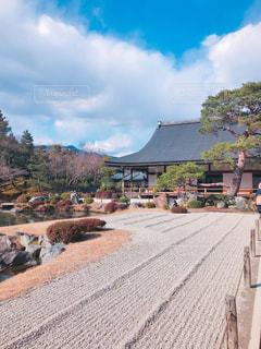 天龍寺庭園の写真・画像素材[1015536]