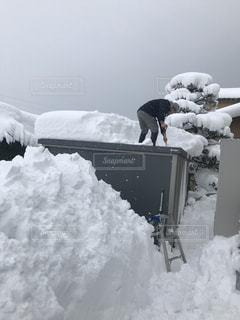 雪の山の写真・画像素材[1015112]