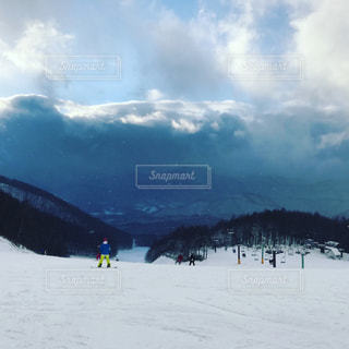 雪山の写真・画像素材[1016074]