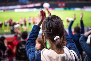 スタジアムで応援の写真・画像素材[1110281]