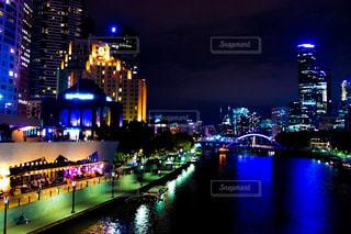 メルボルンの夜景の写真・画像素材[1018018]