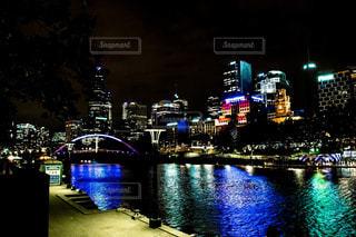 メルボルンの夜景の写真・画像素材[1018020]