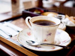 春模様のコーヒーカップの写真・画像素材[1027549]