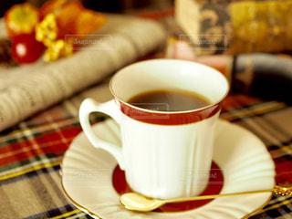 秋のコーヒータイムの写真・画像素材[1514232]