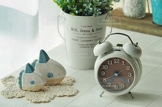 朝と時計の写真・画像素材[2623786]