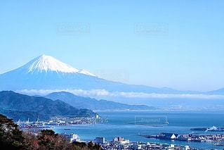 富士山と清水港の写真・画像素材[2846529]