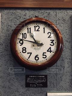 アンティーク調の壁掛け時計 正面の写真・画像素材[1018674]