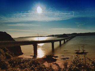 角島大橋の夕景の写真・画像素材[1018891]