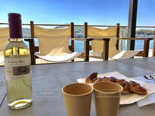 海辺のカフェの写真・画像素材[1018979]