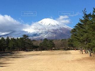 ゴルフ場から見える富士山の写真・画像素材[1019351]