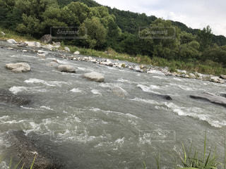 山梨の川の写真・画像素材[1021945]