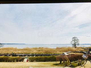 冬の湖の写真・画像素材[1021904]
