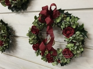 クリスマスリースの写真・画像素材[1639243]