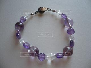 壁紫ブレスレットの写真・画像素材[1558324]