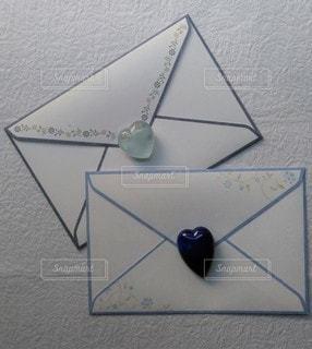 青いラブレターの写真・画像素材[2923667]