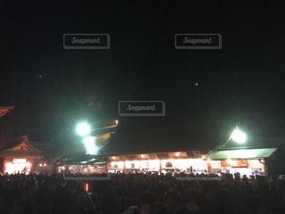 2018年年越し後の鹿島神宮の参拝者の写真・画像素材[1051433]