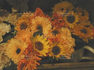 テーブルの上の花の花瓶の写真・画像素材[1025771]