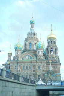 サンクトペテルブルクの、血の上の救世主教会の写真・画像素材[1022838]