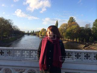 イギリス、ヨークの橋の上での写真・画像素材[1077211]
